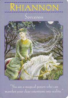 Rhiannon in Goddesses Guidance Oracle Cards by Doreen Virtue