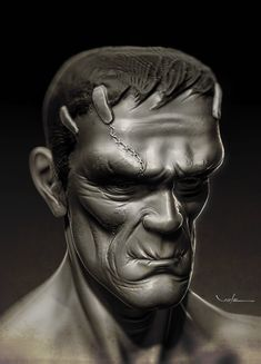 Frankenstein - WIP 2 by CValenzuela on DeviantArt Victor Frankenstein, Bride Of Frankenstein, The Modern Prometheus, Frankenstein's Monster, Monster Munch, Just Ink, Classic Monsters, Lowbrow Art, The Villain