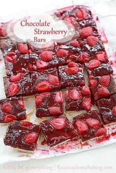 Chocolate Strawberry Bars by RoxanaGreenGirl   Roxana's Home Baking, via Flickr