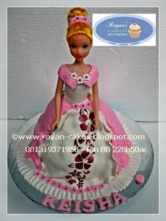 Barbie Cakes - Doll Cakes _ Birthday Cakes Fondant by Rayan Cakes