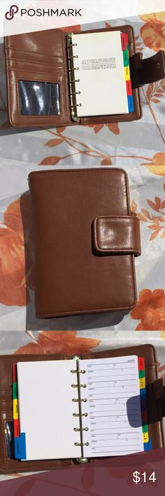 "Vintage wallet organizer planner  phonebook small Adorable tan snap front wallet organizer. Credit card compartments slap for money has organizer phonebook with blank pages.6x4"" made a final front page reads advantage organizer. Pages can be replaced binded   like a notebook. Vintage Bags Wallets"