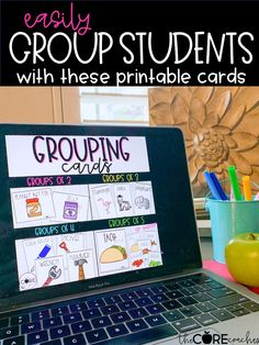 Easily group your students into groups of 2, 3, 4, 5, or more with these fun printable cards.