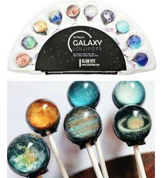 SET of 10 Galaxy Planets Universe Gourmet Lollipops