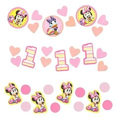 Minnies 1st Birthday Confetti Value Pack ** More info could be found at the image url.  This link participates in Amazon Service LLC Associates Program, a program designed to let participant earn advertising fees by advertising and linking to Amazon.com.