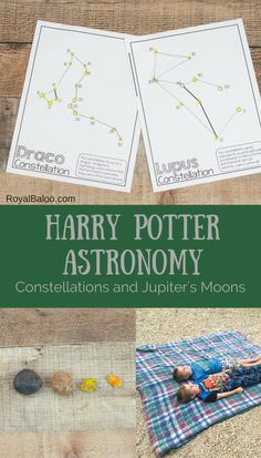 Harry Potter Astronomy with Constellations and Jupiter's Moons, DIY and Crafts, Enjoy the stars a bit more with Harry Potter Astronomy. Learn about relevant constellations, Jupiter& Moons, and star gazing! Harry Potter Classes, Harry Potter Activities, Harry Potter School, Harry Potter Classroom, Theme Harry Potter, Harry Potter Birthday, Harry Potter Diy, Jupiter Moons, Wizard School