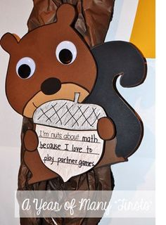 """I'm nuts about..."" - simple and cute squirrel craft for fall fun!"