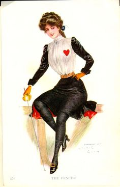 Gibson Girl, The Fencer by Charles Dana Gibson
