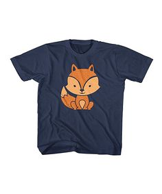 Look at this American Classics Navy Cute Fox Tee - Toddler & Kids on today! Pet Clothes, Animal Clothes, Cute Fox, Eddie Bauer, Cotton Tee, Baby Boy, Navy, Tees, Mens Tops