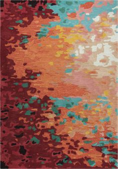 Shop the Rug - Color: Orange; Size: x by Rizzy. This Hand Tufted Orange rug has a pile_height, perfect for a soft yet durable addition to your home. Orange Color Palettes, Colour Pallette, Colour Schemes, Color Combinations, Orange Rugs, Orange Area Rug, Beach Bedroom Colors, Washable Area Rugs, Teal Rug