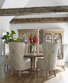 Dining Room. How cool are those chairs???