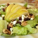 Fresh Fall Salad with Cranberry Vinaigrette