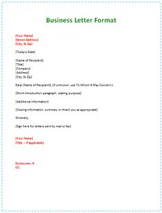 printable sample proper business letter format form real estate