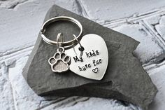 My Kids Have Fur Keychain Stamped Metal Pet Owner Keychain Fur Keychain, Keychain Clip, Stamped Jewelry, Metal Jewelry, Jewelry Stamping, Pet Gifts, Dog Lover Gifts, Mosaic Mirrors, Mosaic Art