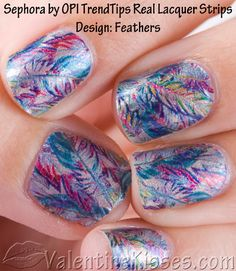 Must try. Feather nail polish strips.
