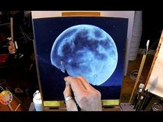How to paint a full moon. You can download this lesson to your computer here: http://nagualero.com/fullmoonrising, you can check out the exact brushes and pa...