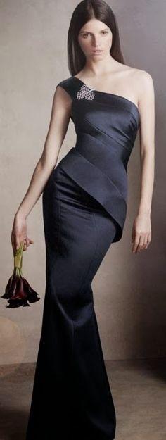 Very elegant dark blue gown