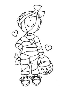 Free Dearie Dolls Digi Stamps: Little Mummy Boy
