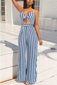 Fiona Striped Jumpsuit