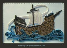 A ship on the sea, quilled - by: KARI - Russian artist