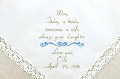 http://www.weddinghanky.com/  #napahanky  Embroidered wedding Handkerchiefs