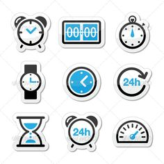 Realistic Graphic DOWNLOAD (.ai, .psd) :: http://jquery-css.de/pinterest-itmid-1005434955i.html ... Time Clock Vector Icons Set ...  24h, black, blue, car, clock, day, electric, hour, hourglass, icon, label, measure, minute, pictogram, set, sign, speed, speed meter, start, stop, stopwatch, symbol, technology, time, watch, wrist watch  ... Realistic Photo Graphic Print Obejct Business Web Elements Illustration Design Templates ... DOWNLOAD…