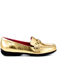 Isaac Mizrahi Cady - Gold Leather