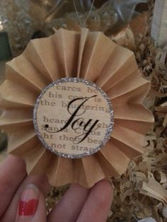 DIY Ornament made from paper.