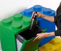 LEGO Recycling Bins   DudeIWantThat.com