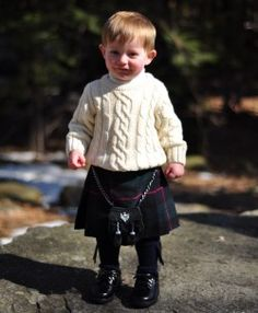 Toddler kilts - how cute! Hmmm... we are running the Tartan Trot next month...
