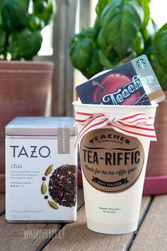 You're Tea-Riffic Teacher free printable from #whipperberry for #teacherappreciation week. #teachergiftidea