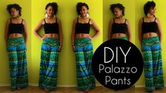 How To Make Palazzo Pants in 20 min | DIY Clothes