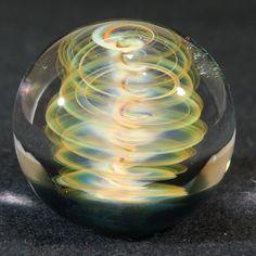 Juba Glass Contemporary Lampwork Borosilicate Marble Gold and Silver Fume SRA   eBay