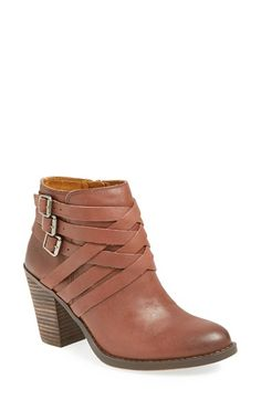 Free shipping and returns on Lucky Brand 'Elwoodd' Belted Bootie (Women) at Nordstrom.com. Woven buckle straps climb a on-trend bootie with stacked heel and Western-inspired allure.