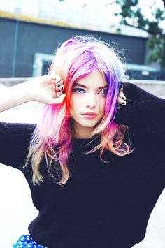 Rainbow Dip Dye Ombre Hair Extensions - Colorful Ombre Hair Extensions For Short Hair
