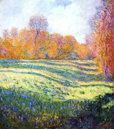 Meadow at Giverny - Claude Monet, Claude Monet November 1840 – 5 December was a founder of French impressionist painting. Claude Monet, Post Impressionism, Impressionist Paintings, Monet Paintings, Landscape Paintings, Landscapes, Abstract Paintings, Artist Monet, Renoir