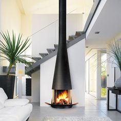 Image result for multi sided fireplace