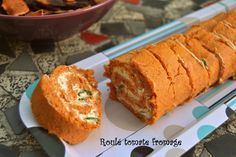 Roulé tomate fromage