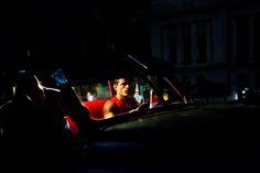 paolo pellegrin(1964- ), an 'almendron', a collective taxi. havana vieja. cuba 2012