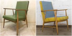 Nordic 50´s armchair, reupholstered and restored #BeforeandAlis