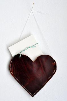 Leather Love Note Door hanger from annilygreen.com