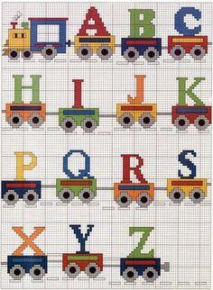 PONTO CRUZ: Gráficos Monogramas Infantis