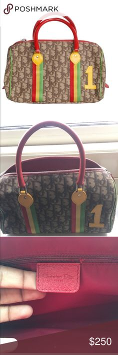 Vintage Christian Dior Bag-Rasta Collection Amazing shape only worn handful of times-this line was recently seem on Kim Kardashian-she wore the bikini-it's a must have for your wardrobe classic collection. Christian Dior Bags Satchels