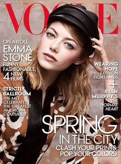 Emma Stone: Funny, Fashionable, 4 New Films - Vogue May 2014 Cover