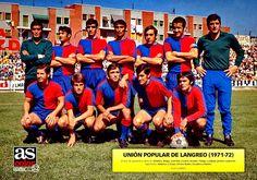 Union Popular De Langreo of Spain team group in Football Team, Soccer, Popular, Baseball Cards, Sports, 1970s, Archive, Group, Logos