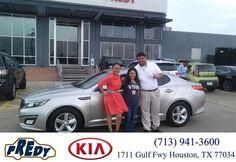 https://flic.kr/p/HFWsHx | Happy Anniversary to Joe  on your #Kia #Optima from Ricardo Lopez at Fredy Kia! | deliverymaxx.com/DealerReviews.aspx?DealerCode=OLRT