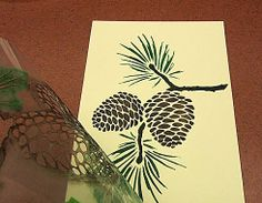 Pine Cones stencil See more Holiday Stencils: http://www.cuttingedgestencils.com/christmas-stencils-valentine-halloween.html