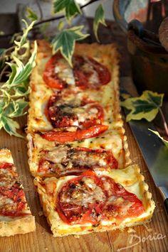 Tarte à la tomate et au fromage