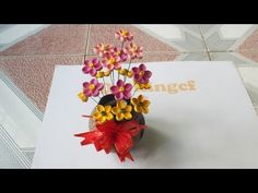 Quilling tutorial Advance 3D- How to make Flower Vase Quilling - YouTube