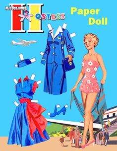 Post Card Airline Hostess-1953