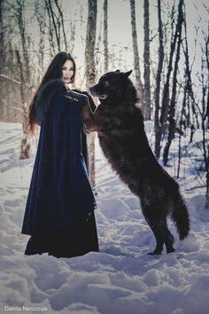 To all wolf lovers: May you always have a wolf guardian by your side always.